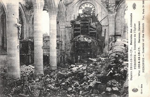 Peronne somme 1914 1918 l eglise cpa