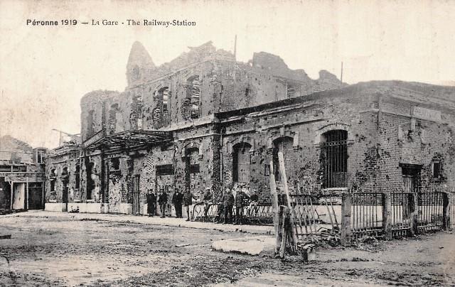 Peronne somme 1914 1918 la gare cpa