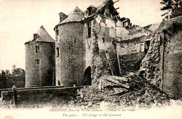 Peronne somme 1914 1918 le chateau cpa