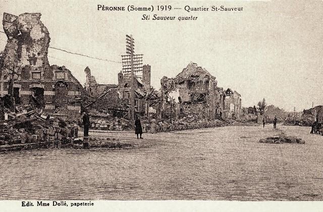 Peronne somme 1914 1918 le quartier saint sauveur cpa