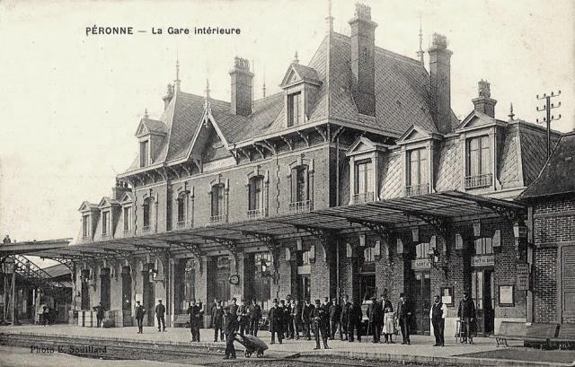 Peronne somme la gare vers 1909 2eme batiment les quais cpa
