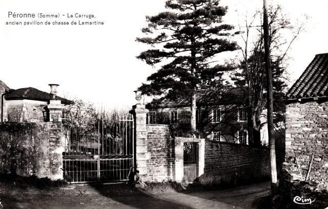 Peronne somme le carruge ancien pavillon de chasse de lamartine cpa