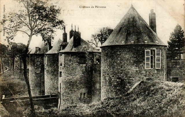 Peronne somme le chateau cpa