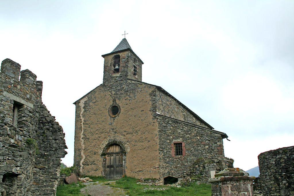 Peux-et-Couffouleux (Aveyron) Blanc, l'église