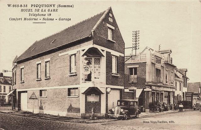 Picquigny somme l hotel de la gare cpa