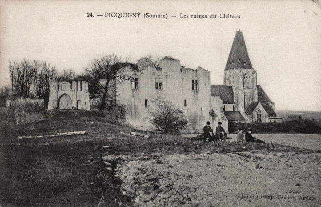Picquigny somme le chateau fort cpa
