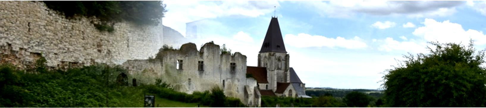 Picquigny somme le chateau fort et l eglise