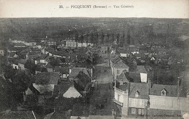 Picquigny somme vue generale cpa