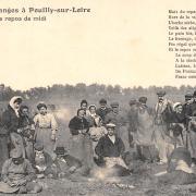 Pouilly-sur-Loire (Nièvre) Le repas des vendangeurs CPA