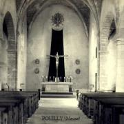 Pouilly-sur-Meuse (Meuse) L'église Saint Martin CPA
