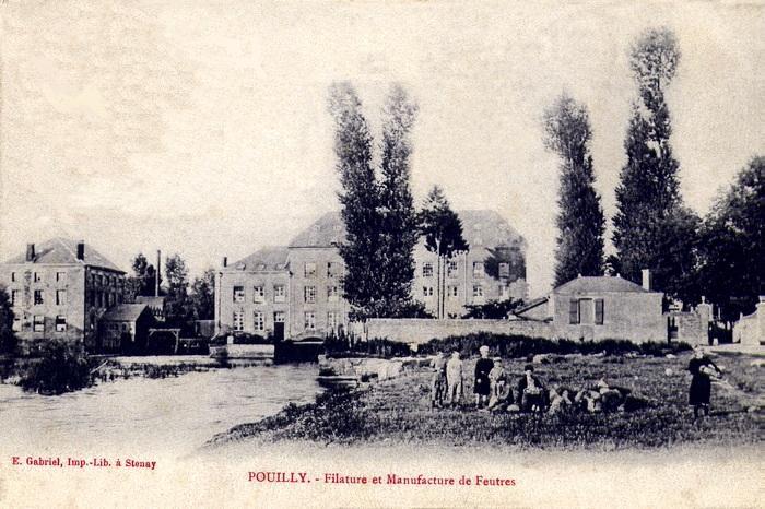 Pouilly-sur-Meuse (Meuse) La filature CPA