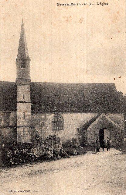 Prasville (28) L'église CPA