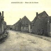 Prasville (28) La rue de la Gare CPA