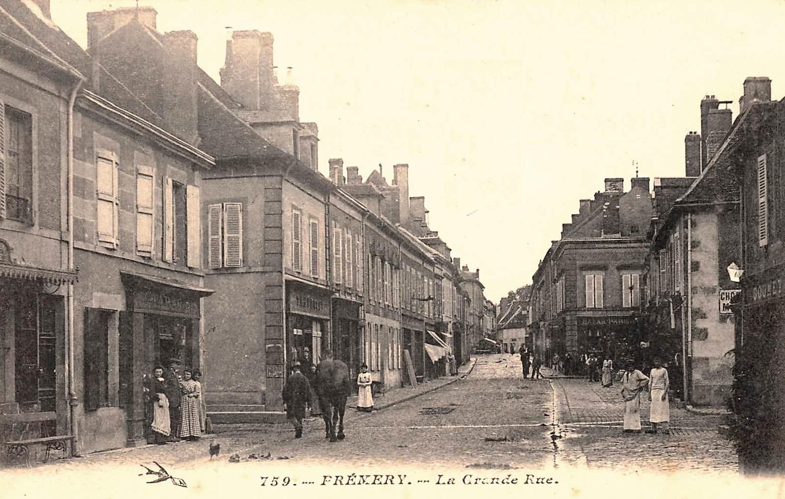 Prémery (Nièvre) La Grande Rue CPA