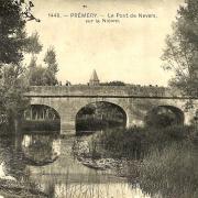 Prémery (Nièvre) Le pont sur la Nièvre CPA