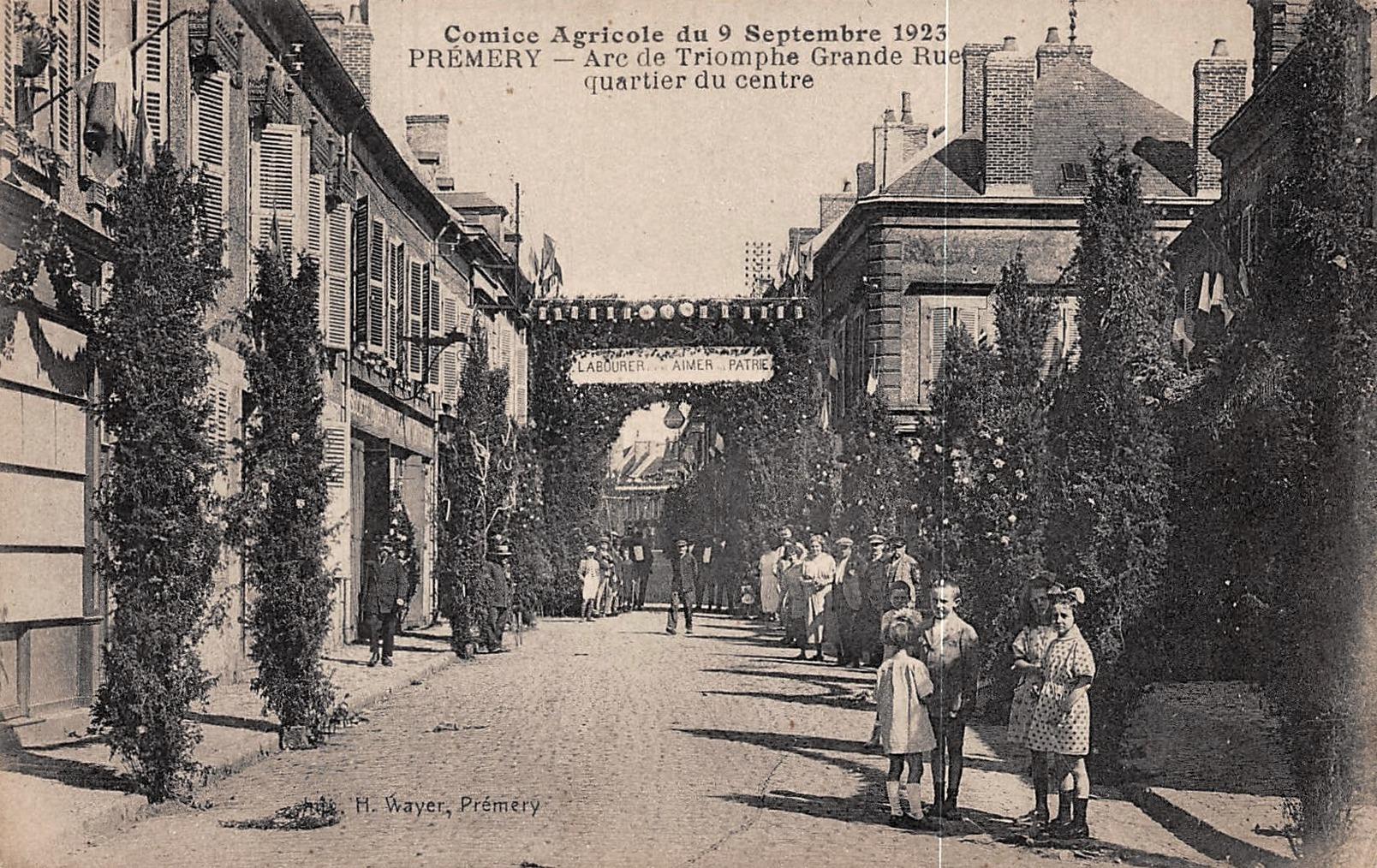 Prémery (Nièvre) Le quartier du Centre CPA