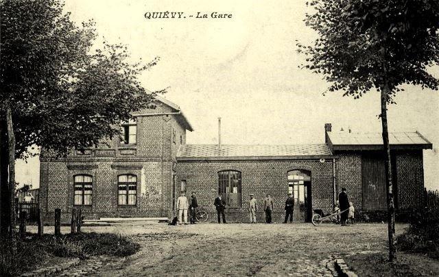Quievy 59 la gare cpa