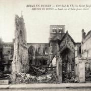 Reims 51 l eglise saint jacques 1914 1918 cpa