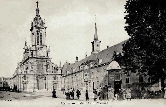 Reims 51 l eglise saint maurice cpa