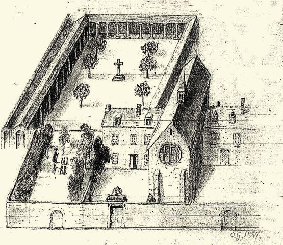 Reims 51 l eglise saint michel gravure