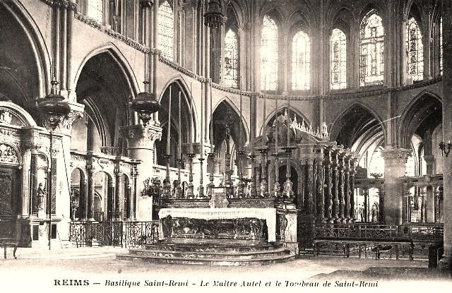 Reims 51 l eglise saint remi le tombeau cpa