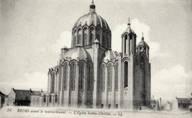 Reims 51 l eglise sainte clothilde cpa