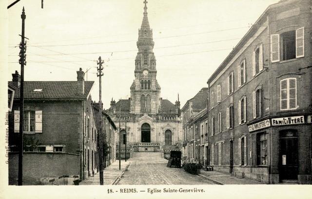 Reims 51 l eglise sainte genevieve cpa