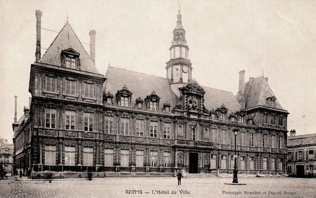Reims 51 l hotel de ville cpa