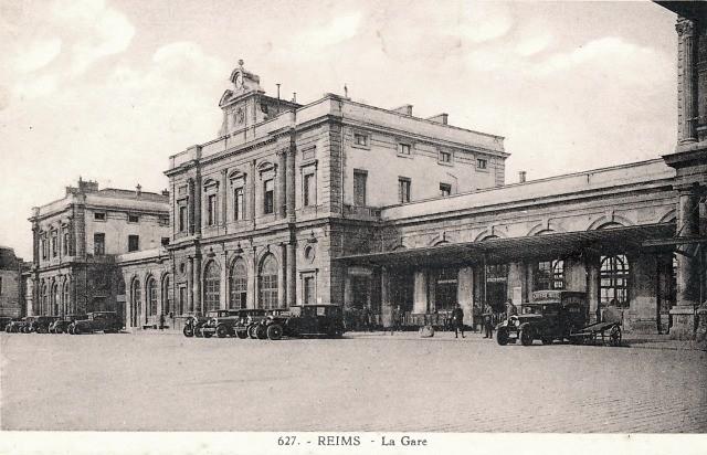 Reims 51 la gare cpa