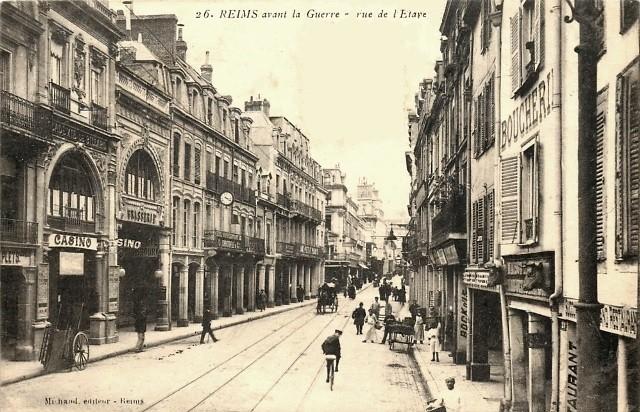 Reims 51 la rue de l etape cpa