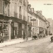 Reims 51 la rue gambetta cpa
