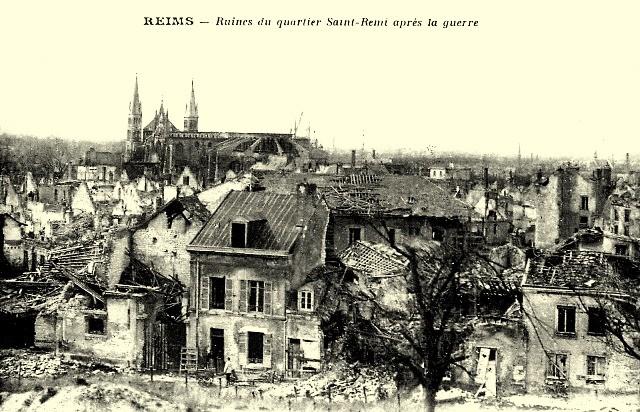 Reims 51 le quartier saint remi 1914 1918 cpa