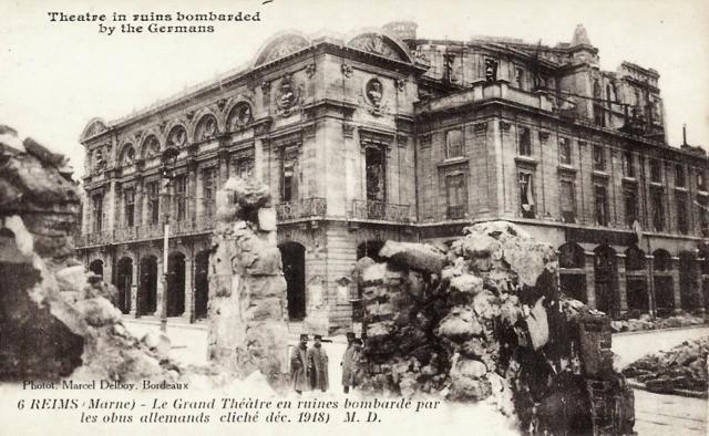 Reims 51 le theatre 1914 cpa