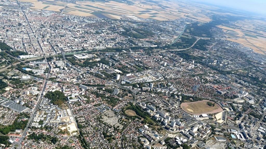 Reims 51 vue aerienne