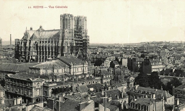 Reims 51 vue generale cpa
