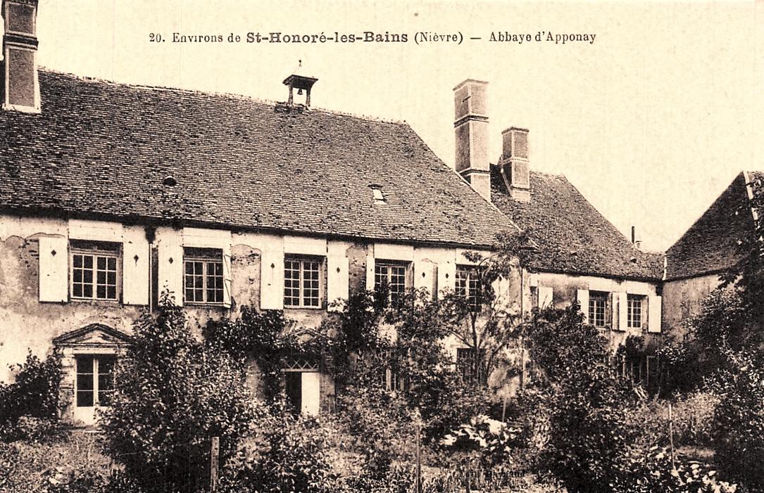Rémilly (Nièvre) L'abbaye d'Apponay CPA