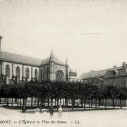 Remiremont 88 l eglise et la place des dames cpa