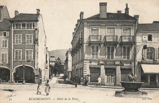 Remiremont 88 l hotel de la poste cpa