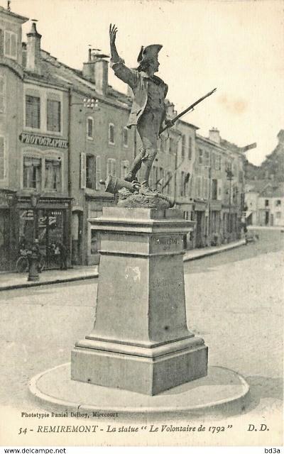 Remiremont 88 la statue du volontaire 1870 cpa