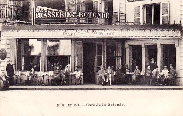 Remiremont 88 le cafe de la rotonde cpa