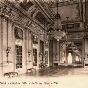 Rennes (Ille-et-Vilaine) La salle des fêtes de l'Hôtel de Ville CPA