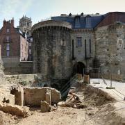 Rennes (Ille-et-Vilaine) La Porte Mordelaise et les fouilles en 2014