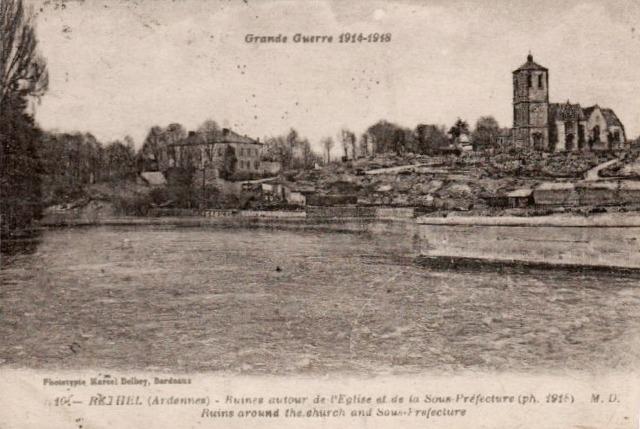 Rethel (08) 1918, les ruines CPA