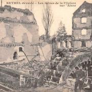 Rethel (08) 1918, les ruines des filatures CPA