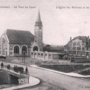 Rethel (08) L'église des Minimes, le pont du canal et les écoles CPA