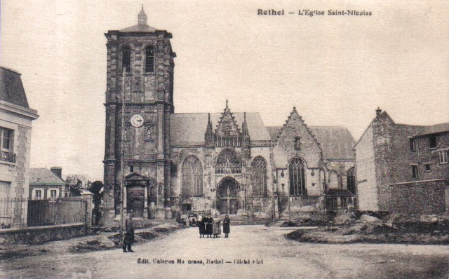 Rethel (08) L'église Saint-Nicolas CPA