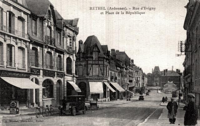 Rethel (08) La rue d'Evigny CPA