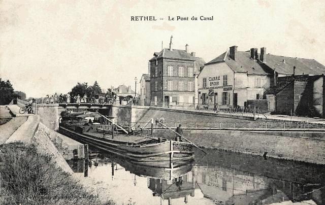 Rethel (08) Le pont du canal CPA