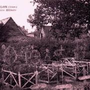 Révillon (Aisne) CPA cimetière militaire