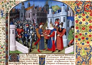 Richard Ier, enfant, présenté à Louis IV d'Outremer